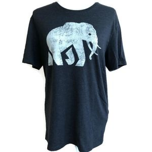 Banana Republic Elephant Print Distressed T Shirt